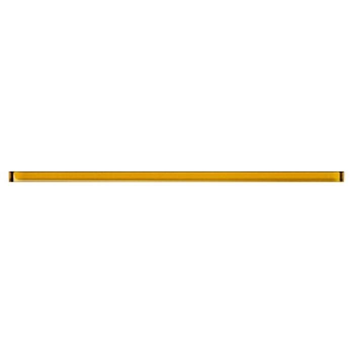 Бордюр MEI 600x20 Universal Glass желтый UG1L062