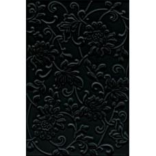 Плитка настенная KERAMA MARAZZI Аджанта 200х300 цветы черный 8217
