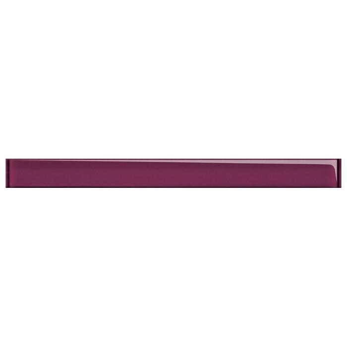 Бордюр Cersanit Beata 450x40 стеклянный фиолетовый UG1H22