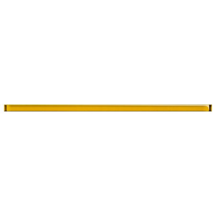 Бордюр Cersanit Petra 600x20 стеклянный желтый UG1L061