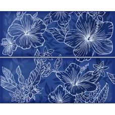Панно KERLIFE Elissa Floret Blu 505х402 (комплект из 2 шт)