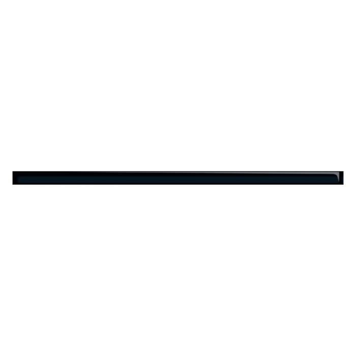 Бордюр MEI 600x20 Universal Glass черный UG1L231
