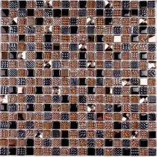 Стеклянная мозаика Crystal Brown 300х300