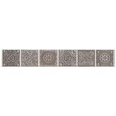 Бордюр AZORI Grazia Grey 405x62 бордюр Nefertiti